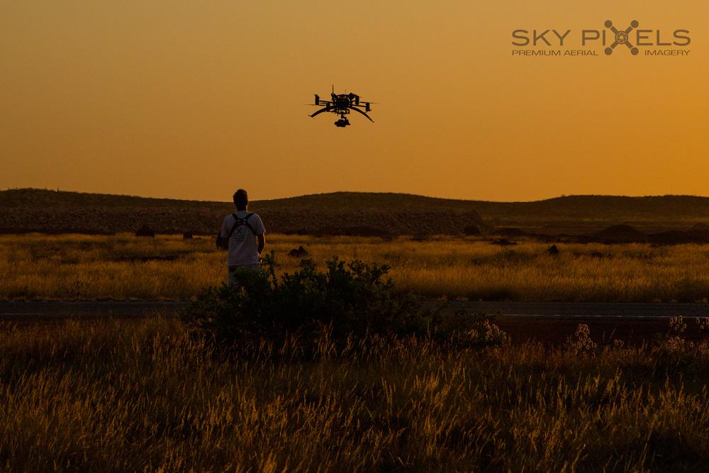 Pilbara Sunset Drone
